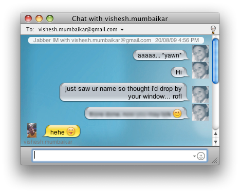 An iChat with my Best school friend
